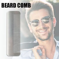 2020 Acier inoxydable brosse à cheveux Barbe Brosse anti-statique peigne de massage pour hommes
