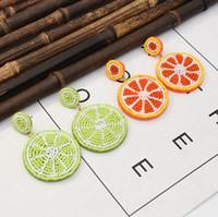 Baumel kronleuchter böhmischen samen perlen ohrungen zitrone bunte perlen designer frucht orange ohrringe für mädchen sommer strand schmuck 2021