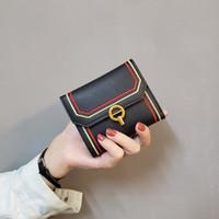 New Korean woven Portemonnaie Brieftasche Frauen kurz Stil der europäischen und Brieftasche Art und Weise drei der amerikanischen Frauen Verschiffen frei falten Geldbörse Gezeiten