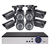 Görev 1080n 8 Kanal DVR Kiti CCTV Güvenlik Kamera Sistemi Video Gözetim 4 adet 720 P AHD Kızılötesi Kamera 1/2TB HDD