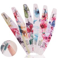 Impreso de uñas lima de uñas bloque de amortiguación media luna en forma de clavo de pulido molino de lijado pulido pedicura manicura del arte Herramientas Lima de uñas
