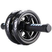 Abdominal Ab Wheel Roller mit Mat No Noise Muscle Doppel Rädern Bauch Roller Workouts Bauch Fitness Übungs-Ausrüstung