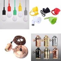 Suporte da lâmpada de silicone colorido E27 Titular holde Edison Vintage base da lâmpada Retro Europeu e Bases estilo americano