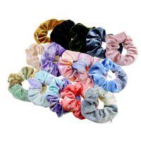 Tie Dye Zipper Scrunchies Pleuche Scrunchy Flanell Reißverschluss Haar-Riegel Seile elastischer Samt Haarband Mädchen-Frauen-Pferdeschwanz-Halter-Taschen-D91506