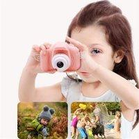 مصغرة كاميرا 2 بوصة hd شاشة عالية الجودة الرقمية الاطفال الكرتون لطيف اللعب التصوير الفوتوغرافي الدعائم للأطفال هدية عيد