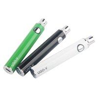 MOQ 5PCS Vorwärmen 510 Batterien Ugo-V Mirco USB Passthrough 650mAh 900mAh Verstellbare Vapes Batterie Ecigs E Zigaretten Ego Evod Vaporizer Vape Pen