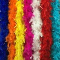 2021 Venta caliente del partido del vestido de lujo del color múltiple de marabú boa de plumas Para Burlesque Boas envío