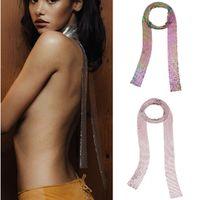 Мода Стиль ЕС Преувеличены женщины ювелирных изделий Панка ожерелье шарф Форма цепь женщины Bib ожерелье Заявление ювелирное изделия для партии