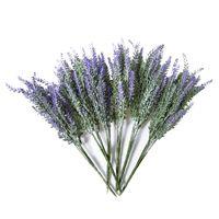 6x Paketler Yapay Lavanta Buket Sahte Lavanta Demet Mor Çiçekler Yapay Bitki İçin Düğün, Ev Dekorasyonu, Kapalı