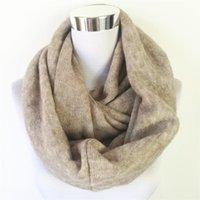 Шарфы модные унисекс женские зимний круг кашемировые дамы бесконечности шарф промытые обертки ветви