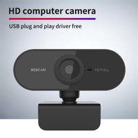 Camcorder Full HD 1080P Webcam Mini Computer PC Webcamera mit Mikrofon drehbare Kameras für Live Broadcast-Videokonferenzarbeit