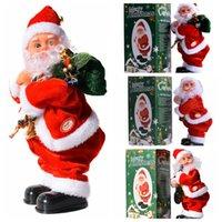 Shaking Hip Music Electric Santa Claus Toy Electric Shaking Buttock Santa Claus Juldekorationer Xmas Kids Gifts Cyz2753 Sea Shipping