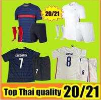 20/21 2 نجوم 2 Grizmann Mbappe Soccer Jersey Pogba قصيرة الأكمام قميص كرة القدم مايلوت دي القدم 2020 2021 رجل + أطفال كيت زي