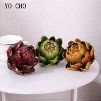 décoration plante tête d'ananas plastique artichaut plante artificielle artificielle maison fleur petit ensemble de bonsaïs