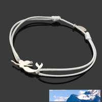 Bracelet Mermaid Stainless Steel Charm Cord Lucky Bracelet 3...