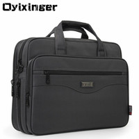 OYIXINGER Men Briefcase Laptop Bags Good Nylon Cloth Multifunction Waterproof 15.6 Handbags Business Shoulder Mens Office Bags