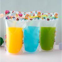 DIY 500ML المتاح عصير الحقيبة مسح متعدد الألوان متجمد صلاة الحقائب الذاتي دعم المشروبات كيس من البلاستيك الصيف 0 23xc G2