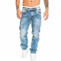 UEFEZO Biker Jeans Erkekler Sıkıntılı Stretch Erkekler Hip Hop Slim Fit Delikler Punk Denim Jeans Pamuk Pantolon Kot Pantolon Ripped eskitmek