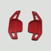1set Autosportlenkrad Shift-Paddle Shifter fit für Audi A3 A4 A4L A5 A6 A7 A8 Q3 Q5 Q7 TT S3 R8 Rot Silber Schwarz