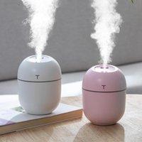 Humidificadores 200 ml Mini humidificador ultrasónico Atomizadores de aire USB Luz de noche Aroma Difusor de aceite esencial para Home Car Led Mist Maker Fogger