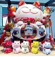 Corée du mignon Keychain de chat chanceux personnalité créative acrylique Sac de chat porte-clés sac pendentif