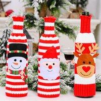Bouteille de vin rouge Couverture Père Noël bonhomme de neige Décorations de Noël Accueil Décor 2021 Nouvel An Navidad Cadeau de Noël Décoration