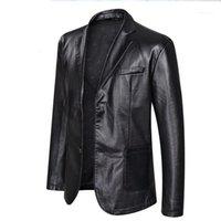 Куртки Повседневный однобортный Одежда Пальто Дизайнер Куртка 5XL 6XL Плюс Размер Мужская Большой Кожа PU