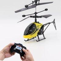 Mini RC Drone Helikopter Infraed İndüksiyon 2 Kanal Elektronik Komik Süspansiyon Uzaktan Kontrol Uçağı Quadcopter Drones Çocuk Oyuncakları