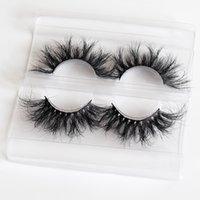 Custom super fluffy faux mink eyelashes china wholesale chea...