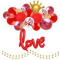 2020 Palloncino Pacchetto San Valentino Camera Confessione Matrimonio Disposizione Proposta puntelli decorazione pallone