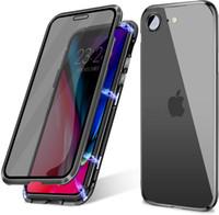 Magnetic cassa del respingente antiurto adsorbimento metallo Anti Spy dello schermo di segretezza vetro temperato della protezione di iPhone per 7/8 Plus SE 2020 iPhone 6 6S