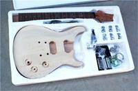 Фабрика электрические полуфабрикаты набор гитарных наборов, DIY гитара, без краски, малого тела и шеи, клена, топ хрома, можно изменить