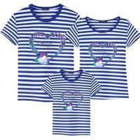 Camisa de harmonização do Outfits T de verão da família Mom Dad Filho Filha Impresso camisetas Familiares mãe de pai roupa dos miúdos roupas combinando