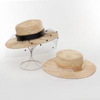 Sombreros de ala nomo 202105-hh7431 manual natural de sisal tejido de tejido dama de lady cena fedoras gorra mujer ocio sombrero