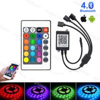Contrôleurs RGB 24Keys Bluetooth intelligente APP Trois accessoires d'éclairage de sortie pour 5050 3528 2835 Modules RGB Strip mur Lave Lampe DHL