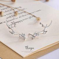 Тайя Серебро 925 ювелирных изделий бриллиантами Циркон серьги Deer Корона Стиль Серьга для женщин Engagement Fine Jewelry 200919