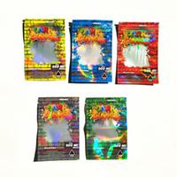 Hologram 500mg DANK Gummies Sac d'emballage Edibles gélifiés pour Sac étanche anti-poussière Vape pochette en plastique d'emballage Zip Sac