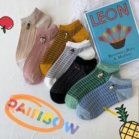 Socken Strumpfwaren Sommer Atmungsaktive Mesh Frauen Lustige Cartoon Früchte Niedliche Boot Damen Japanisch Koreanisch Harajuku Niedriger Schnitt Baumwolle