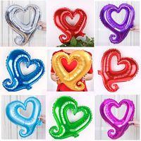 1шт 18INCH Большие Hook формы сердца Фольга Воздушные шары Сердце шар свадебную вечеринку День святого Валентина украшения Брачные шары
