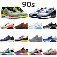 Top 90s men women running shoes royal rose UNC undefeated white blue fury solar red total orange sail turquoise mens cushion sneakers
