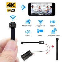 HD 4K 1080P Mini Wifi Camcorde portátil P2P TF tarjeta de visión nocturna inalámbrica Cámara IP de detección de movimiento Sport Micro ayuda de la leva