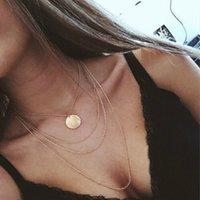 Multi camada tassel cadeia lantejoula pingente colar liga para cadeias de jóias de moda para mulheres presentes de alta qualidade