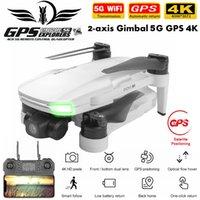 FEMA GPS 무인 항공기 2 축 기계적 짐벌 FPV 4K 카메라 5G 와이파이 전문 Foldable Brushless RC Dron Quadcopter PK SG906 Pro