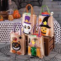 هالوين هدية حقائب ورأى حقائب ساحرة القرع مربع حقيبة حمل حقيبة هالوين للأطفال الحلوى التخزين أطفال هدية حقيبة زينة مستحضرات تجميل YL410