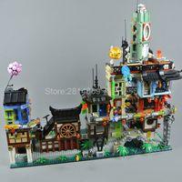 70657 Ninja Moive City Docks 3553 PCS Tijolos Modelo Speelgoed Presente Compatibel 06083 10941