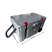 50QT High quality double wheels ice cooler box cooler chest ...