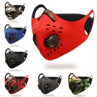 2020 Cycling Gesicht Gesicht Aktivkohle Masken Maske Anti-Fog-Winddichtes staubdicht atmungsaktiv Sonnenschutz Outdoor Sports Radfahren Fac HHF878
