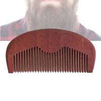 Nuovissimo 10 pz / lotto Pocket Hair Beard Pettine Pettine AMODONG Wood Fine Denti Denti Styling Tool Anti Static Perfect for Beard Oil Company