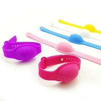 실리콘 팔찌 핸드 소독제 씻어없는 살균 솔루션 부드러운 어린이 젤 팔찌 손목 시계 스트랩 병
