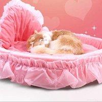 Pet Bed Матса Круглого Pet Бездельник Подушка Кошка Симпатичные принцесса Mat диван щенок Лежак для малого Большого Собаки моющегося Теплого Pet Bed LSK1191